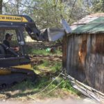 Knocking Down Shed in Boise, Idaho